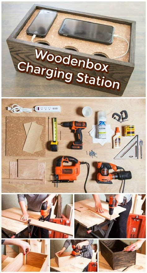 diy wood charging station 40 best diy charging station ideas easy simple unique