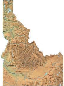 State Of Idaho Map by Detailed Idaho Map Id Terrain Map