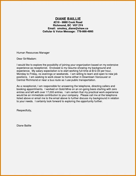 work experience covering letter cover letter no experience healthcare resume template