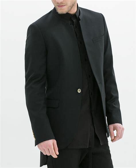 Bt7489 Black Blazer Zara blazer col mao de zara black clothes black blazers collars and zara