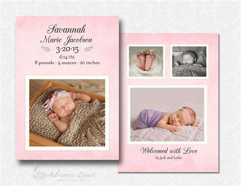 birth announcements templates for photographers free birth announcement templates for photoshop adrienne