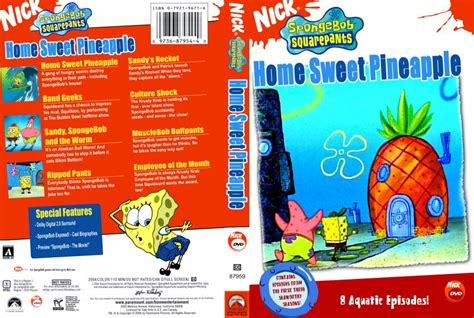 spongebob squarepants home sweet pineapple tv dvd
