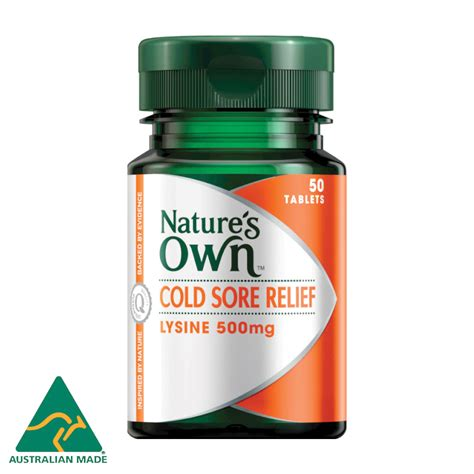 nature s own cold sore relief lysine 50 tablets