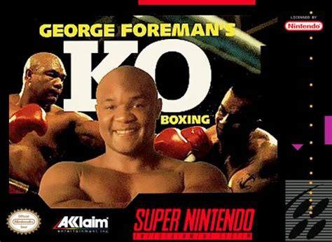 george foreman's ko boxing snes super nintendo