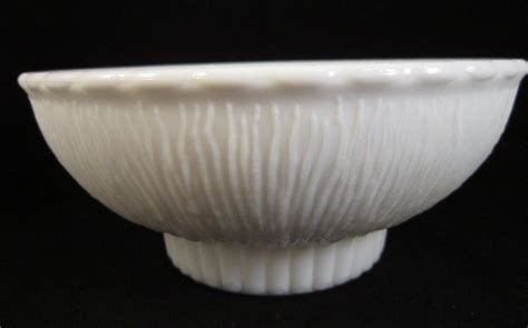Footed Bowl Vase by Milk Glass Footed Vase 1975 Marked F T D White Bowl Shape