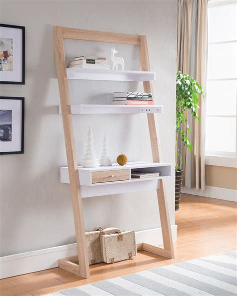 ladder desk with shelves 25 best ideas about leaning shelves on leaning ladder shelf oak ladder shelf and