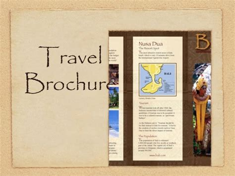 travel brochure book report book report travel brochure