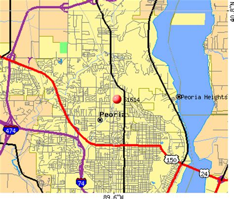 zip code map peoria il zip code peoria illinois map