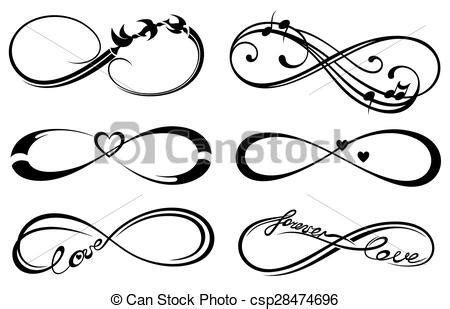 infinity love forever symbol forever icons eps vectors