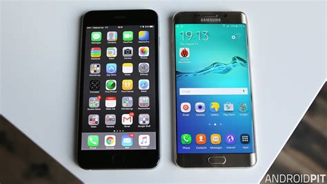 samsung galaxy  edge  iphone  comparison  supersized skirmish androidpit