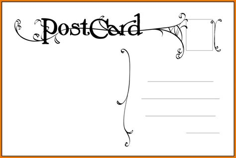 Templates For Postcards by Free Postcard Templates Beneficialholdings Info