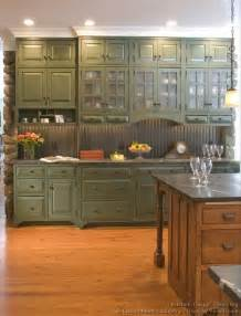 Green Kitchen Cabinet Green Cabinets If You Choose The Country Look The Bead Board Is A Great Backsplash Probably A