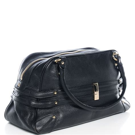 gucci leather wave boston black 72940