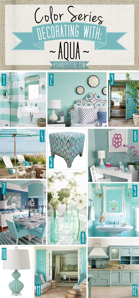 color series decorating with aqua