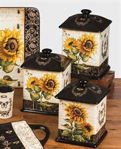 Sunflower Canister Sets Kitchen French Sunflowers Canister Set By Certified International