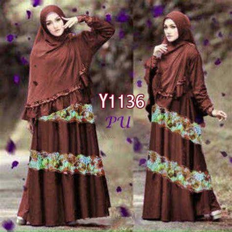 Gamis Syari Najwa Gamis Renda Rainbow Najwa Y1136 Baju Muslim Syar I