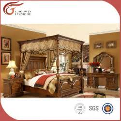 Solid Wood Canopy Bedroom Sets Wholesale Luxury Royal Solid Wood Bedroom Furniture Set