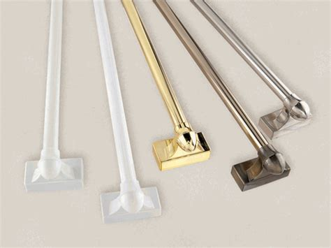 curtain rods for metal doors french door and door panel magnetic rods 17 quot to 31 quot pair