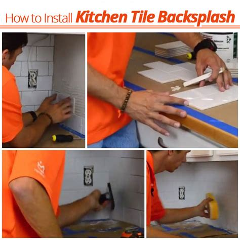 how to install kitchen backsplash install kitchen tile backsplash a how to tutorial
