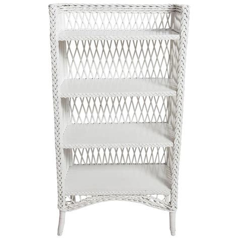 bar harbor style white wicker shelf for sale at 1stdibs