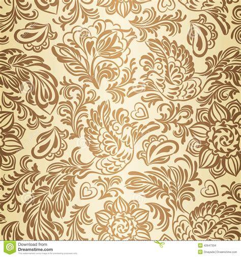 barok stijl bloemen barok patroon met vogels en bloemen goud vector