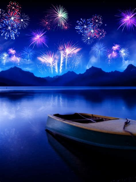 wallpaper  year fireworks reflections hd celebrations  year
