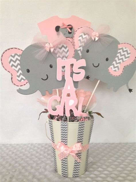 Pink Baby Shower Centerpieces by 25 Best Ideas About Elephant Baby Showers On