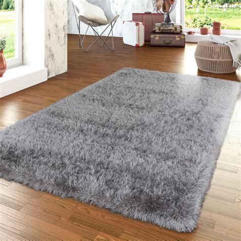 teppich grau wohnzimmer moderner wohnzimmer hochflor teppich shaggy einfarbig mit