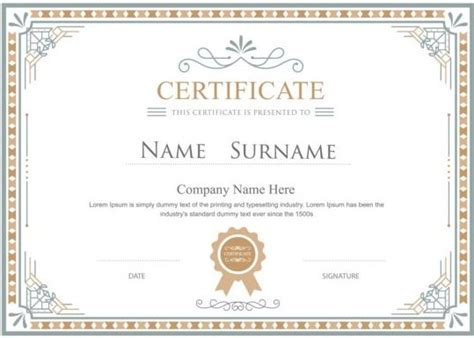 certificate design vector file white retro certificate template vector 05 vector cover