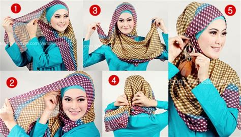 gambar tutorial hijab zoya segi empat hijab forget me not