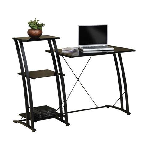 Black Glass Desk by Shop Sauder Deco Black Glass Laptop Desk At Lowes