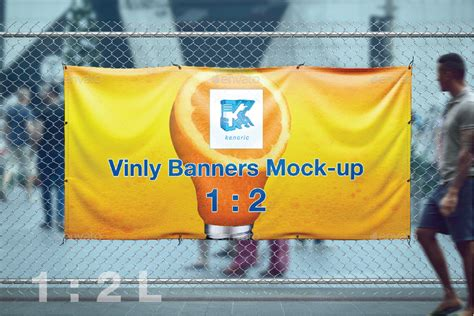 Graphicriver Vinly Banner Mockup vinyl banner mock up by kenoric graphicriver