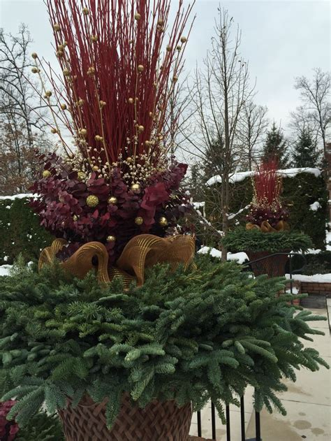 Outdoor Planter Arrangements by 1045 Best Images About Winter Pots On
