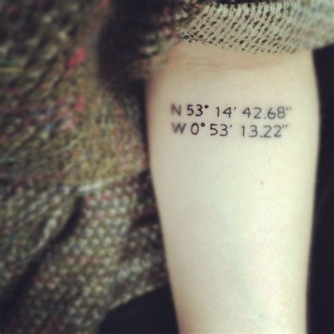 small number tattoos small numbers coordinates inspiring tattoomagz