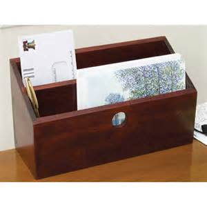 letter and mail organizer cherry in desktop organizers