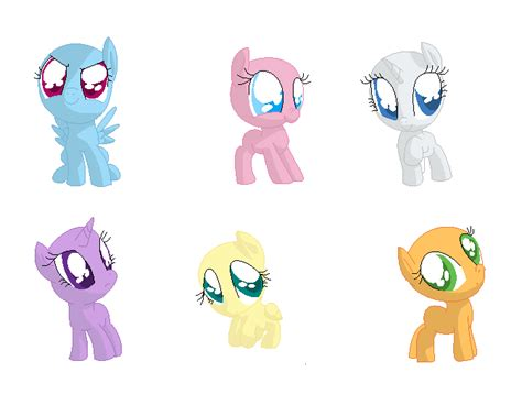 my little pony mane 6 base base 20 cutest mane 6 evar by liviapony bases on