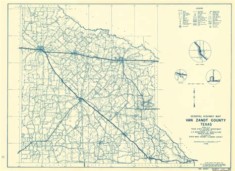 map of zandt county texas county maps zandt county texas by tx state hwy dept 1936