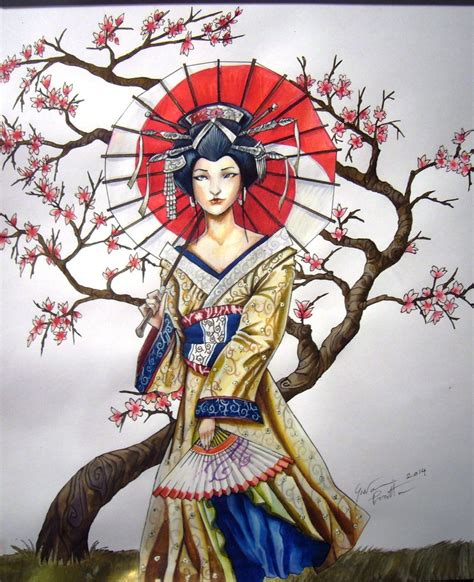 tattoo geisha di dada geisha full color done by giopunkart on deviantart