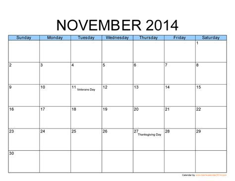 november 2014 blank calendar template november 2014 calendar on templates calendar