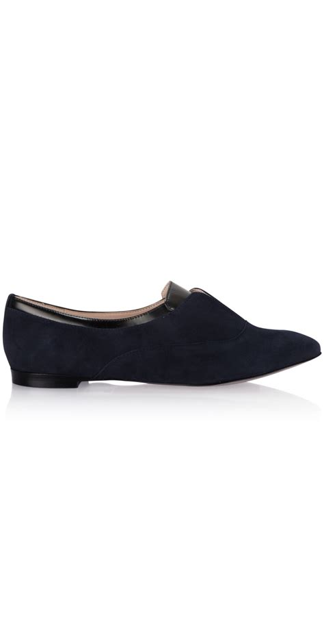 Connexion Flat Shoes Navy connection shoes giovanna flat shoe in shade