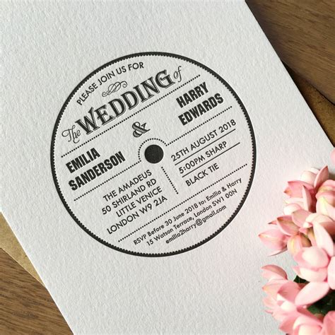 Wedding Invitation Yield by Platinum Letterpress Wedding Stationery By Yield Ink