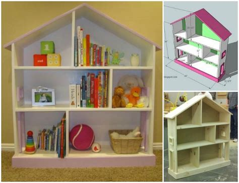 how to build a wooden doll house diy dollhouse bookcase diycraftsguru