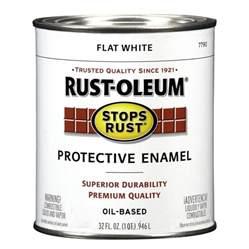 Enamel Exterior Paint - shop rust oleum stops rust white flat oil based enamel interior exterior paint actual net