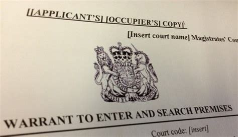 Search Warrant Uk Use New Warrant Templates Now Uk News Oracle