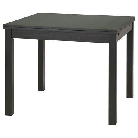 In Table Bjursta Extendable Table Brown Black 90 129 168x90 Cm Ikea