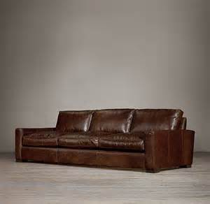 Restoration Hardware Leather Sofas Maxwell Leather Three Cushion Sofas Restoration Hardware Home Ideas Redecorating