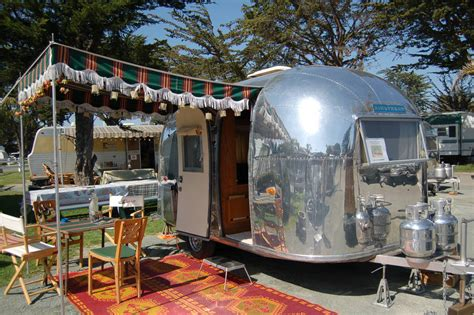 vintage airstream awning cground airstream bambi airstream and vintage trailers