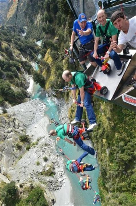 new zealand cliff swing shotover canyon swing s new trike jump filmed for mountain