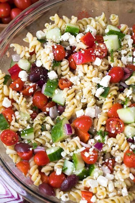 greek pasta salad recipe easy greek pasta salad spend with pennies