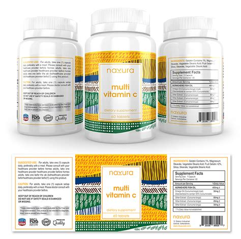 dietary supplement label template vitamin c supplement label template